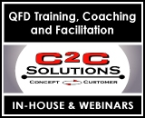 C2C Solutions: QFD Training, Coaching, and Facilitation